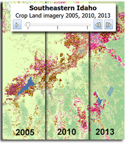 Cropland Changes in Southeast Idaho