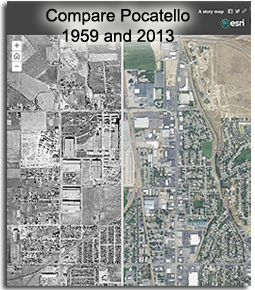 Pocatello Then (1959) and Now (2013)